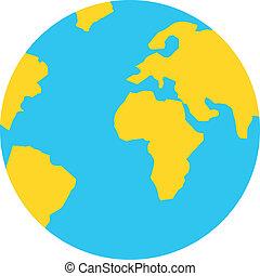 アイコン, 地球, ベクトル