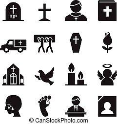 アイコン, 埋葬, 葬式