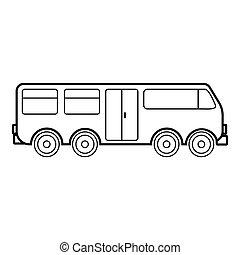 アイコン, 大きい, スタイル, アウトライン, バス