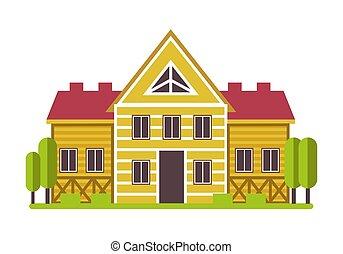 アイコン, 大邸宅, 郊外, ∥あるいは∥, 田舎, 隔離された, 私用, 家
