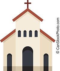 アイコン, 平ら, スタイル, 宗教, 教会