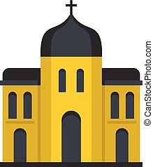 アイコン, 平ら, スタイル, 建築, 教会