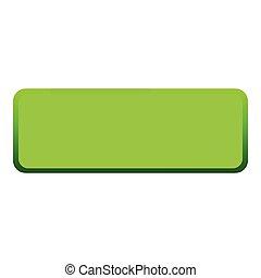 アイコン, 平ら, ボタン, 緑, スタイル