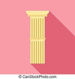 アイコン, 平ら, 柱, スタイル