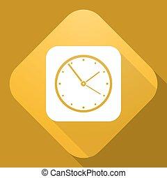 アイコン, 影, ベクトル, 長い間, 時計