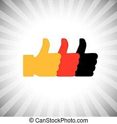 アイコン, 手, 社会, (, -, 媒体, ベクトル, グラフィック, 概念, のように, ), サイン
