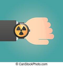 アイコン, 放射能, 腕時計, 痛みなさい, 印