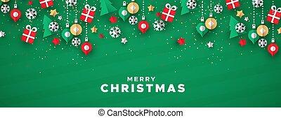 アイコン, 旗, 休日, 芸術, 陽気, ペーパー, クリスマス