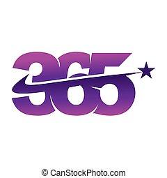 アイコン, 星, ロゴ, デザイン, 無限点, イラスト, 365, ベクトル, swash