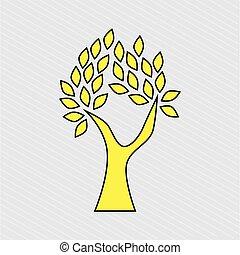 アイコン, 木, デザイン