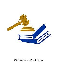 アイコン, 本, 正義, ベクトル, デザイン, 隔離された, 会社, 法律, ロゴ, テンプレート