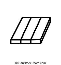 アイコン, 材料, laminate, アウトライン, ベクトル, イラスト