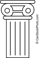 アイコン, 柱, スタイル, アウトライン