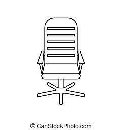 アイコン, 椅子, スタイル, オフィス, アウトライン