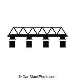 アイコン, 橋, スタイル, 単純である