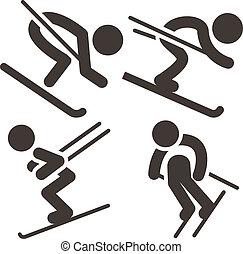 アイコン, 滑降スキー, セット