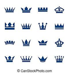 アイコン, 王冠, セット