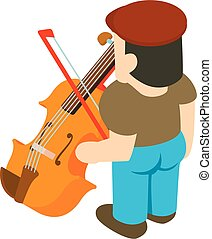 アイコン, 等大, バイオリン奏者, スタイル