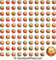 アイコン, 網, 十分に, iconsone, 1(人・つ), ベクトル, editable, 百
