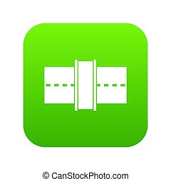 アイコン, 緑, 道, デジタル