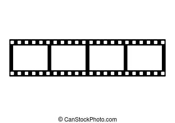 アイコン, 線, 単純である, ストリップ, デザイン, フィルム