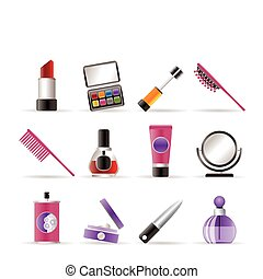 アイコン, 美しさ, メーキャップ, 化粧品