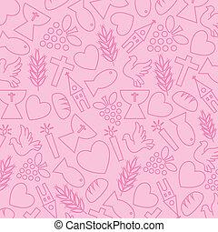 アイコン, 聖餐, 背景, ピンク