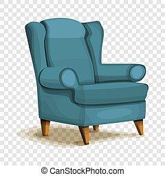 アイコン, 肘掛け椅子, スタイル, 漫画