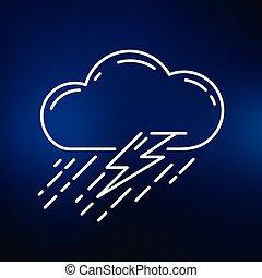 アイコン, 背景, 暴風雨, 青