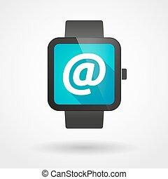 アイコン, 腕時計, 電子メール, 痛みなさい, 印