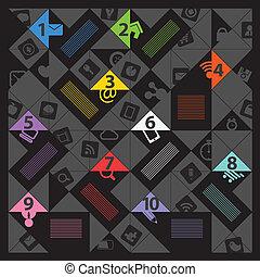 アイコン, 色, テンプレート, 社会, 現代, 媒体, 内容