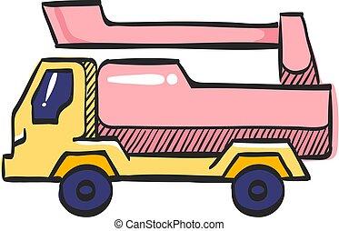 アイコン, 色, 自動車, drawing., 自動車, 戦闘機, 消火器, 消防士, サービス, トラック