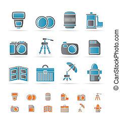 アイコン, 装置, 写真撮影