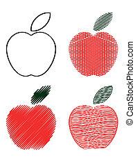 アイコン, 赤いリンゴ