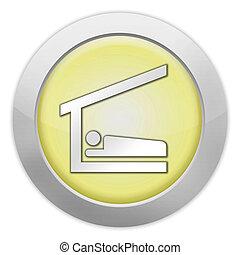 アイコン, 避難所, 睡眠, ボタン, pictogram