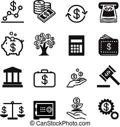 アイコン, 金融, ビジネス