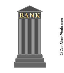 アイコン, 銀行, イラスト, ベクトル