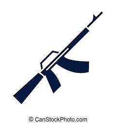アイコン, 銃, 日, 祝福, シルエット, アメリカ人, スタイル, 記念, 軍