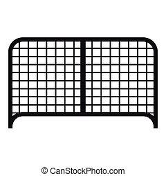 アイコン, 門, スタイル, 単純である