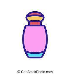 アイコン, 香水のビン, 小さい, アウトライン, ベクトル, イラスト
