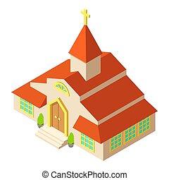 アイコン, 高い, 等大, スタイル, 教会