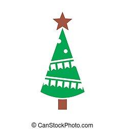 アイコン, app., 創造的, 網, 木, design., イラスト, 概念, シンボル, モビール, ∥あるいは∥, 背景, グラフィック, クリスマス