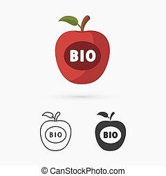 アイコン, bio, アップル