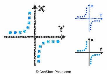 アイコン, hyperbola, プロット, 構成, 円