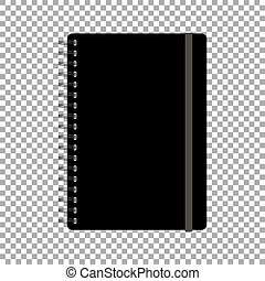 アイコン, isolated., ベクトル, メモ用紙, バネとじノート, イラスト