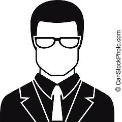 アイコン, jurist, avatar, 単純である, スタイル