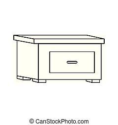 アイコン, nightstand, 引き出し