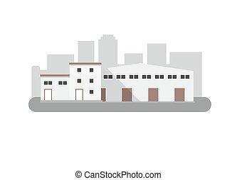 アイコン, style., 隔離された, ベクトル, 平ら, 倉庫, illustration.