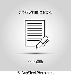 アイコン, style., copywriting, 線である