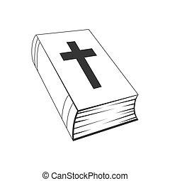 アイコン, vector., -, 聖書